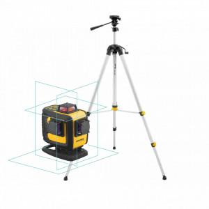 Laser în cruce multifunctional cu raza albastra (4x 360°) CL4D-B + trepied