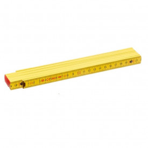 Metru lemn fag 2 m imbinari din otel si nituri vizibile, culoare gaben - Block 52 Y