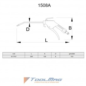 Pistol de curatare pneumatic - 1508A