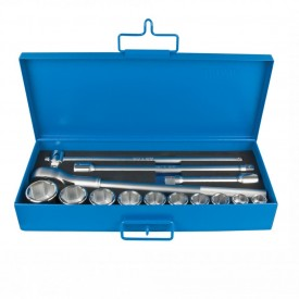 "Set capete chei tubulare in inch 3/4"" in cutie metalica - 197MB3"