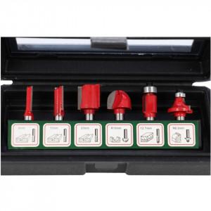 Set de 6 freze cu coada profile diferite, in cutie de plastic - XT60642064006