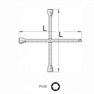 Cheie cruce pentru roti - 213/6