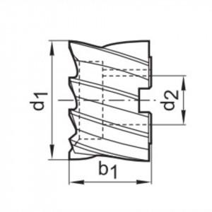 Freze cilindrice, HSS Co8, Tip N, DIN 1880