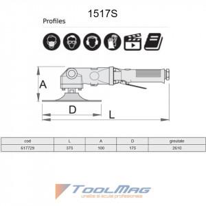 Masina pneumatica de slefuit - 1517S