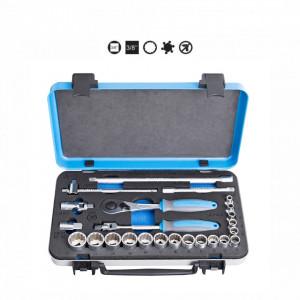 "Set capete chei tubulare si accesorii 3/8"" in cutie metalica - 239A12P24 - Unior2"