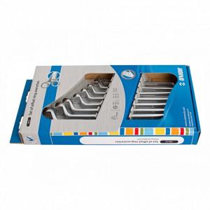 Set de chei inelare dublu cotite in cutie de carton - 180/1CS