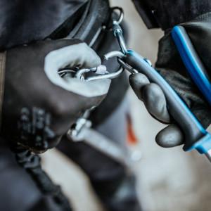 Cheie reglabila cu rola cu inel pentru carabiniera - 250/1-H
