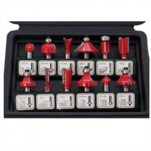 Set de 12 freze cu coada profile diferite, in cutie de plastic - XT60647064012