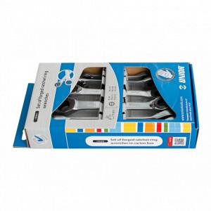 Set de chei forjate inelare cu clichet, in cutie de carton 170/2CS