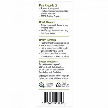 Ulei organic de avocado 250 ml