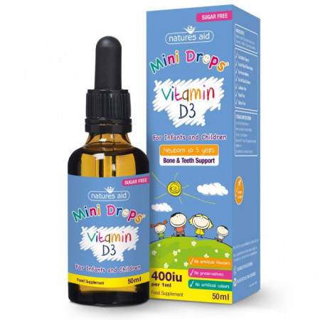 Vitamina D3 400iu/ml picaturi pentru bebelusi si copii