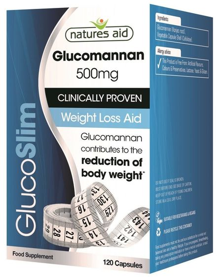 Glucoslim (glucomannan 500 mg), 120 capsule