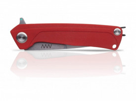 BRICEAG MILITAR Z100 STONEWASH PLAIN EDGE G10 ANV KNIVES RED