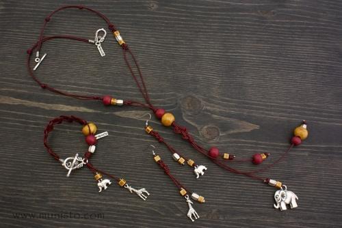 Комплект Слон - дамско колие, гривна и обеци