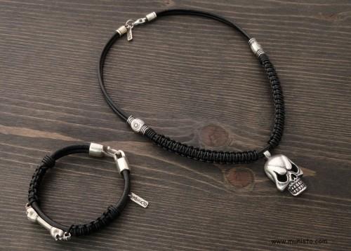 Men's Bracelet & Necklace Set images