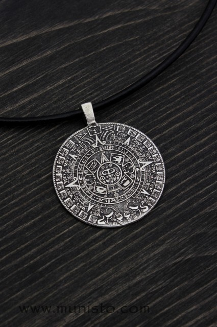 Sacred mayan calendar pendant sacred mayan calendar pendant images aloadofball Image collections