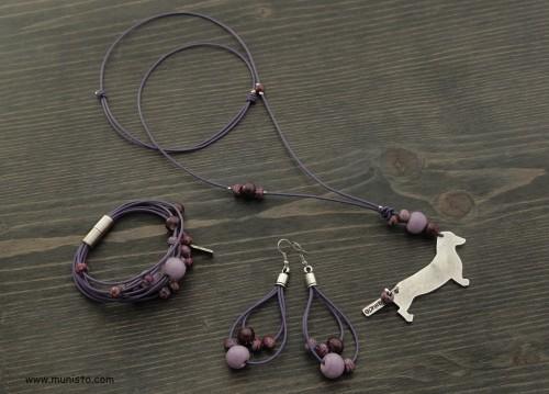 Women's Dachshund Necklace, Bracelet & Earrings Set images