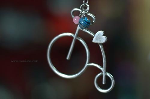 Дамско колие Ретро колело изображения