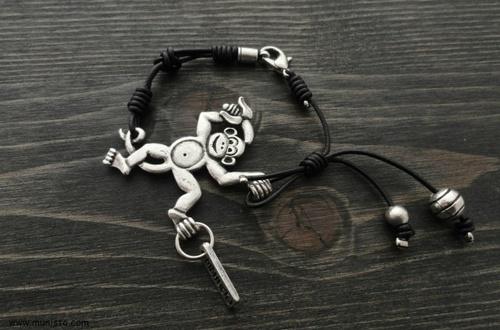 Комплект Маймуни - дамско колие, гривна и обеци изображения