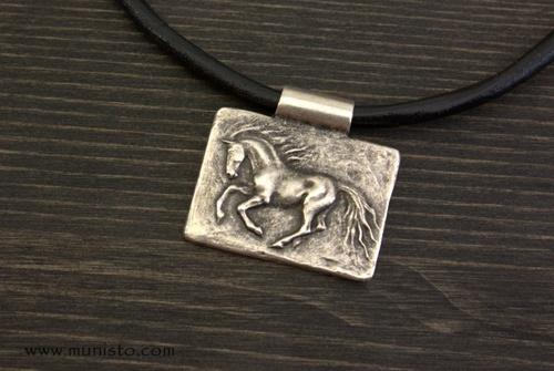 Unisex Necklace Horse