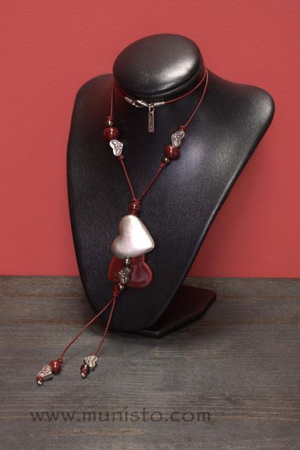 Комплект Сърца - дамско колие, гривна и обеци изображения