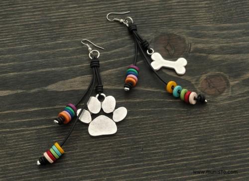 Paw & Bone Earrings images