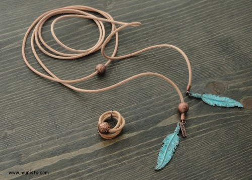 Women's Necklace and Ring Set images