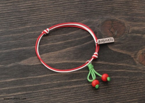 Martenitsa Bracelet Cherries images