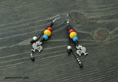 Women's Earrings Roosters images