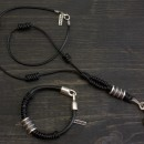 Men's Bracelet & Necklace Set