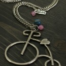 Retro bicycle Necklace