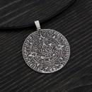 Sacred Mayan Calendar pendant