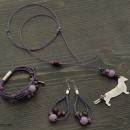 Women's Dachshund Necklace, Bracelet & Earrings Set