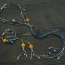 Комплект Раковина - дамско колие, гривна и обеци