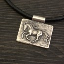 Unisex Necklace Horse