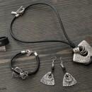 Women's Bracelet, Necklace, Earrings & Ring Set