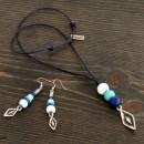 Women's Necklace & Earrings Set Paper Boats