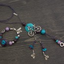 Bicycle Necklace, Bracelet & Earrings Set