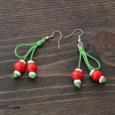 Martenitsa Earrings Cherries