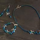 Комплект Морски звезди - дамско колие, гривна и обеци