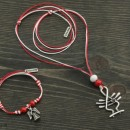 Martenica necklace and bracelet set