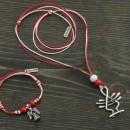 Martenica necklace and bracelet set