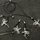 Women's Bracelet, Necklace & Earrings Set - Monkeys