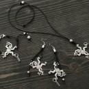 Women's Bracelet, Necklace & Earrings Set - Monkeys