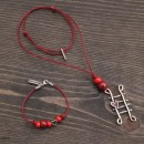 Women's Ladder Bracelet & Necklace Set