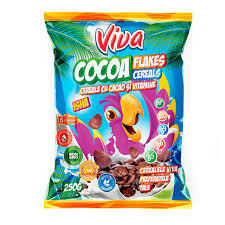 Cereale cu fulgi de cacao 250g Viva