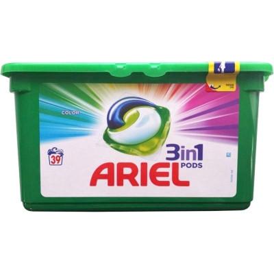 Detergent capsule Ariel 3in1 Pods Color - 39 spalari