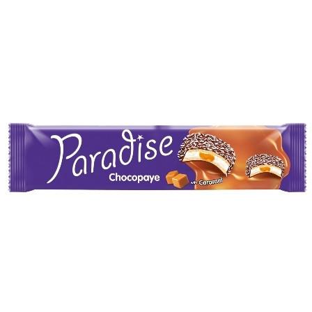 PARADISE CHOCO PAYE BISCUITI SANDWICH MARSHMALLOW CREMA CARAMEL SI COCOS 64