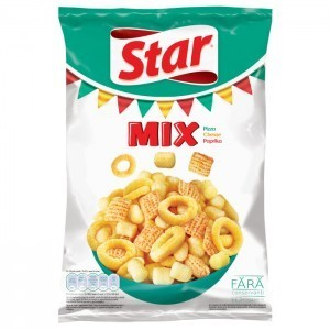 STAR SNACKS MIX – PIZZA, CHEESE, PAPRIKA 90g