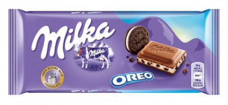 Ciocolata cu lapte si biscuiti Oreo Milka 100g